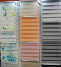 Hign Quality daylight zebra roller/rainbow blind, double roll up blind