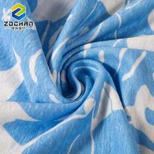 2017 new design Breathable blue floral printed jersey fabric for Garment