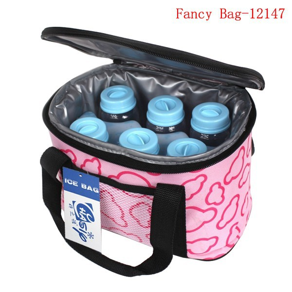 Promotional insulated baby milk bottle cooler bag
