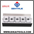 Deluxe diamond display for 5 boxes, high quality customized display by GemTrue