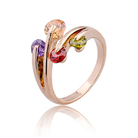zinc alloy fashion ring with zircon stone