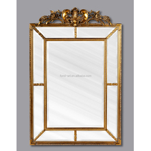 PU201 Antique Wall Decorative Living Room Gold Framed Mirror