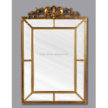 PU201 Antique Wall Decorative Living Room Gold Framed Mirror, View ...