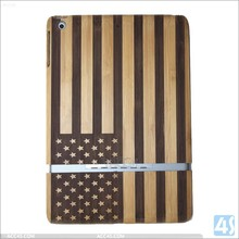 Best quality USA pattern OEM bamboo wooden for ipad air tablet case