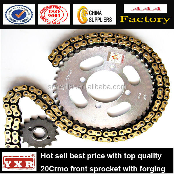 motorcycle chain and sprocket for Honda dream, DY100, W125A