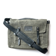 waxed canvas messengers bag canvas leather bag