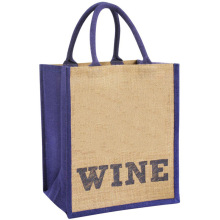 Custom wine jute tote bags wholesale