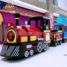 Amusement Park Ride Children Equipment Kids Electric Mini Tourist Train Kiddie Trackless Train For Sale