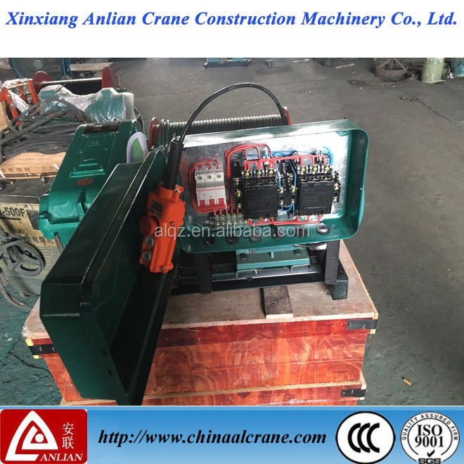 Construction used electric 1t 100meters lifting winch