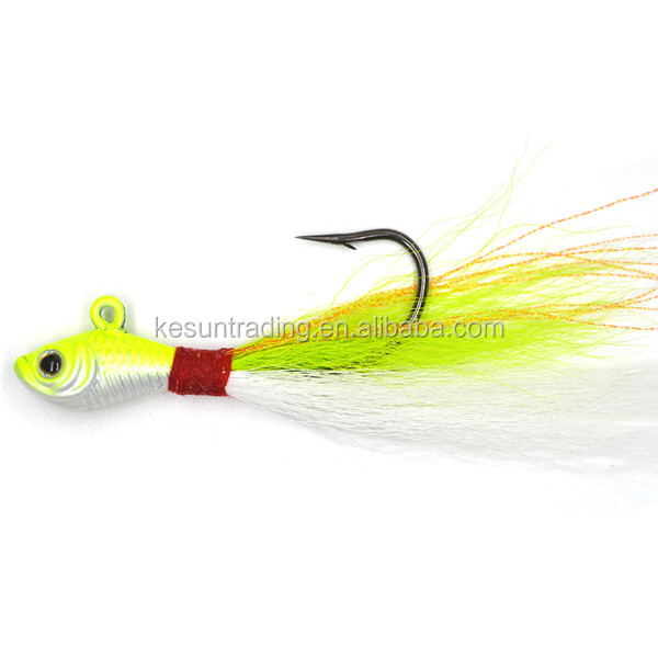 bucktail deer hair jigs with hook fishing baits fishing lure 1oz bucktail jigs new arrived hot sale