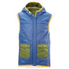 RYH638 Fashinable Short Winter Women Warm Down Vest With Hood
