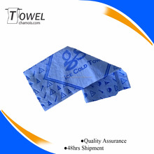 2017 Hot sale cooling chamois pva towel pva sport cooling towel embossed logo machine washable
