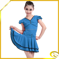 children girl latin dance dress /costume cheerleader child/dance professional dress