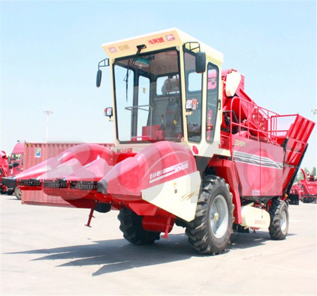 2 rows sweet corn combine harvester for farm use