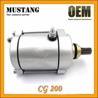 Factory cheap sell high quality starting motor CG200 Motorcycle Starter motor with 11 teeth