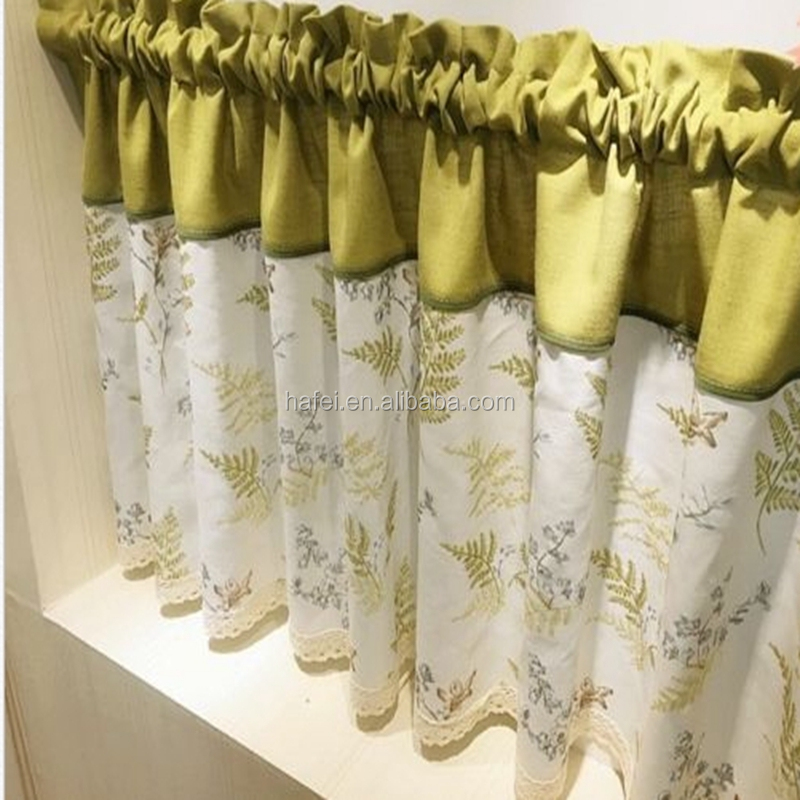 Village Cotton line Tree Forset lace Home Kitchen blinds Curtain