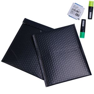 Waterproof shock-resistance PE black holographic kraft custom poly bubble mailer