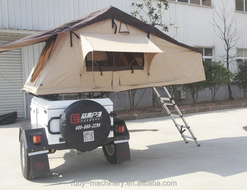 White Australian Standard Folding Camper Trailer with Independent Suspension