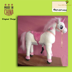 Magic Prince ride on horse toy for sale, Large toy horse to ride for boy in Port Dalian China