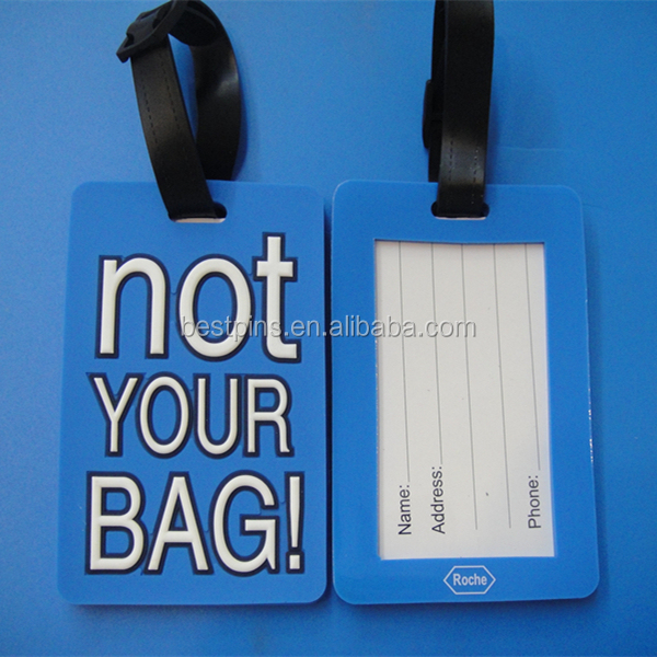 Paper Card Information Insert NOT YOUR BAG Blue Standard Size Luggage Tag for Children Suitcase