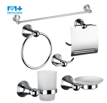 Hotel Balfour Round Zinc Alloy Chromed Cheap Bathroom Accessory Set