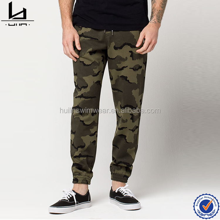 Guangdong apparel allover camo print military pants wholesale blank jogger pants casual wholesale sweatpants for men