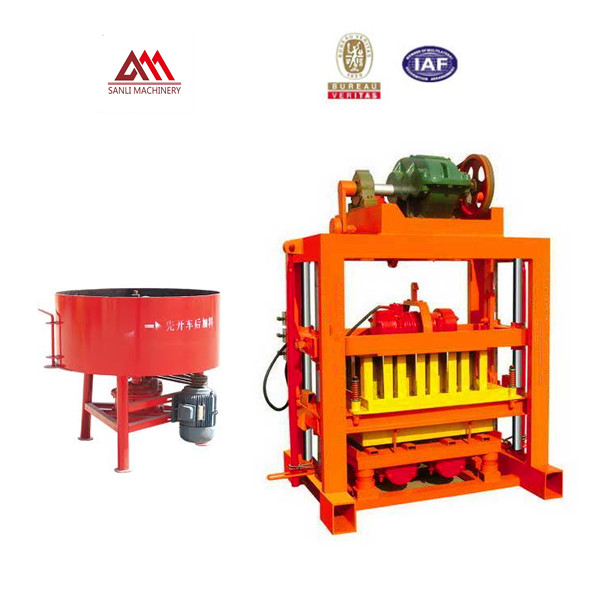QT4-40 hollow block making machine with best price FOR family or small factory to do business!