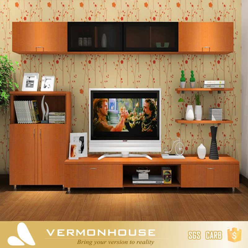 HangZhou Modern Lcd TV Table Wooden Showcase Designs For Hall