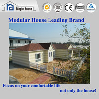 Affordable and economical light steel frame villa house for family living residential house