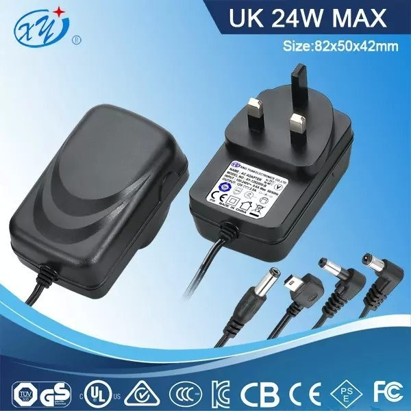 power supply 12v 2a power adapter 12volt 2amp ac dc plug adapter with UL CUL GS SAA CE