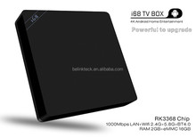 Alibaba Cheapest Octa core RK3368 Android 5.1 2G RAM16G ROM dual wifi 2.4G /5G 4K android tv box i68
