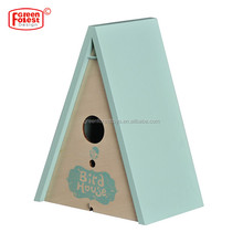 Hot Selling Wooden Outdoor Kids Toy Children's Triangle Wooden Bird House