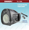 fm radio usb sd card reader speaker with vhf micro