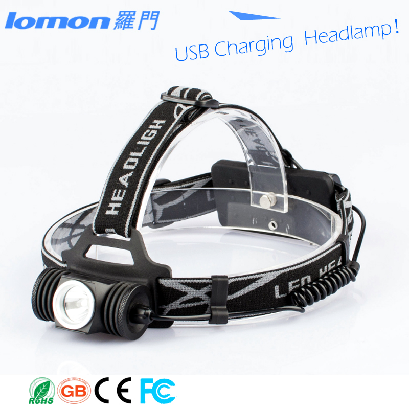 XPE Q3 USB headlamp 3 Modes High Power Head Lamp Led Camping USB Rechargeable Headlamp