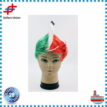 Multi colored Football Fans Wig