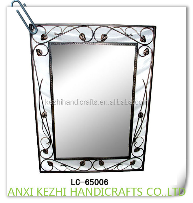 LC-65006 Decorative Leaves Metal Frame Wall Mirror
