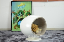 Fiberglass shell Ball Shape Cat House with customized color