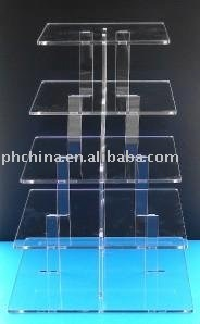 W267 5 tier acrylic cupcake stand with elegant design