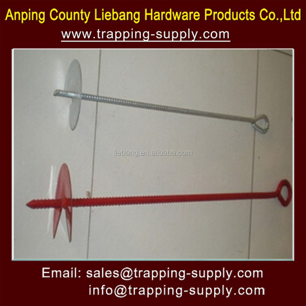 "18"" EARTH GROUND ANCHOR AUGER STAKE & RING TRAP SNARE TRAPPING SNARING SPIKE"