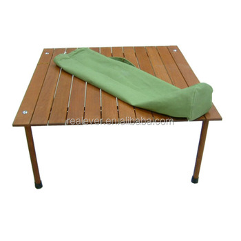 Modern design wholesale outdoor wooden portable picnic/dining folding table