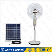 Hot new products 12volt dc rechargeable battery stand fan stand fan with LED