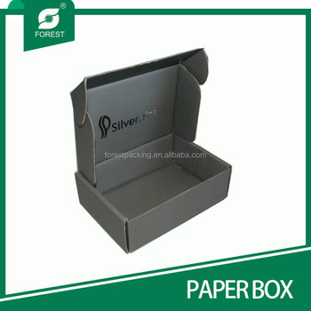 CUSTOM PRINTED BOTH SIDES CORRUGATED PAPER MAILER BOXES WITH SILVER LOGO