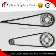 China manufacturer high quality 428/128L-46T/14T motorcycle chain and sprocket set