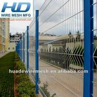 PVC powder coated wire mesh fencing panel with folds