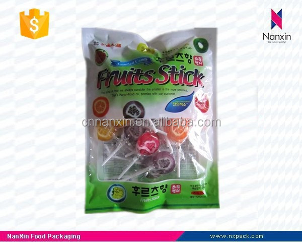 plastic fruits stick candy packaging bag