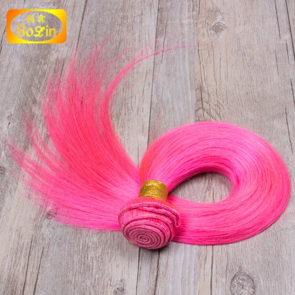 Pink Fashion products wholesale 9a hair Straight sew in human hair extensions
