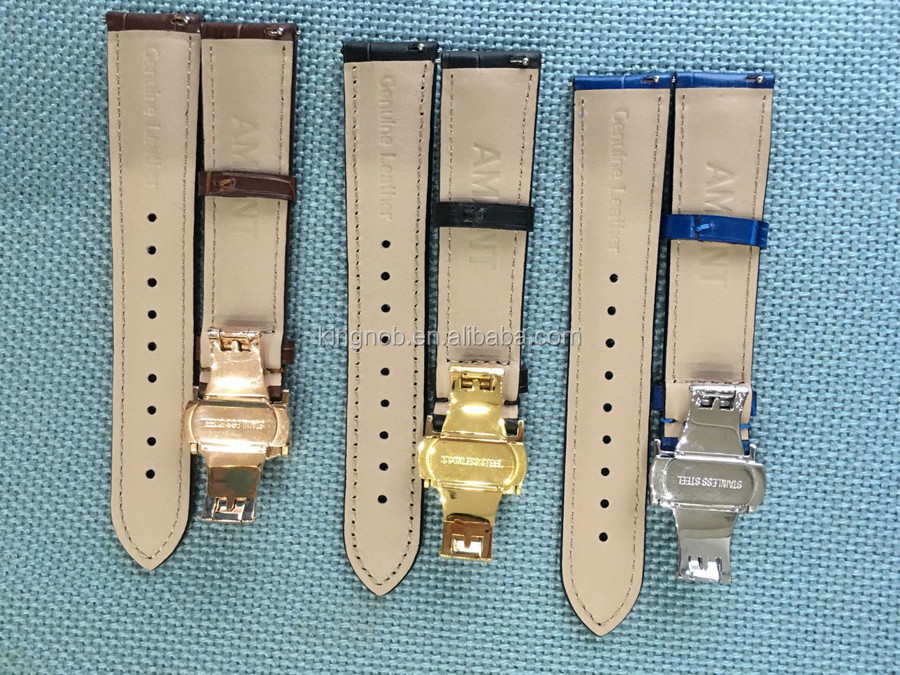 Customize Color Muti Swatch Option Leather Watch Band with Interchange Quick release Strap