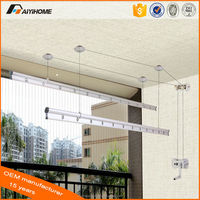 Aiyi durable best price hanging rotating aluminum ceiling mounted clothes drying rack