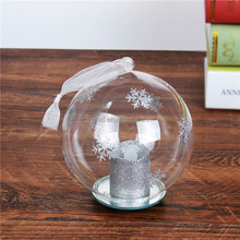 Led Light Christmas Clear Glass Ball With Angel Inside