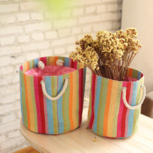 bicycle basket with lid canvas storage bag collapsible storage basket